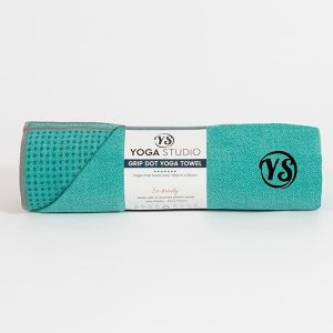Premium Yoga Mat Grip Dot Towels | Turquoise (Rolled)