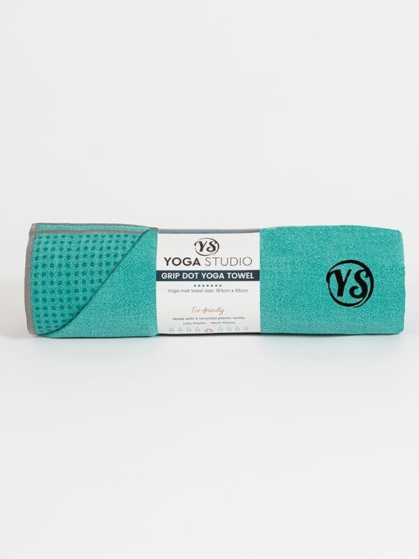 Premium Yoga Mat Grip Dot Towels | Turquoise (Rolled)