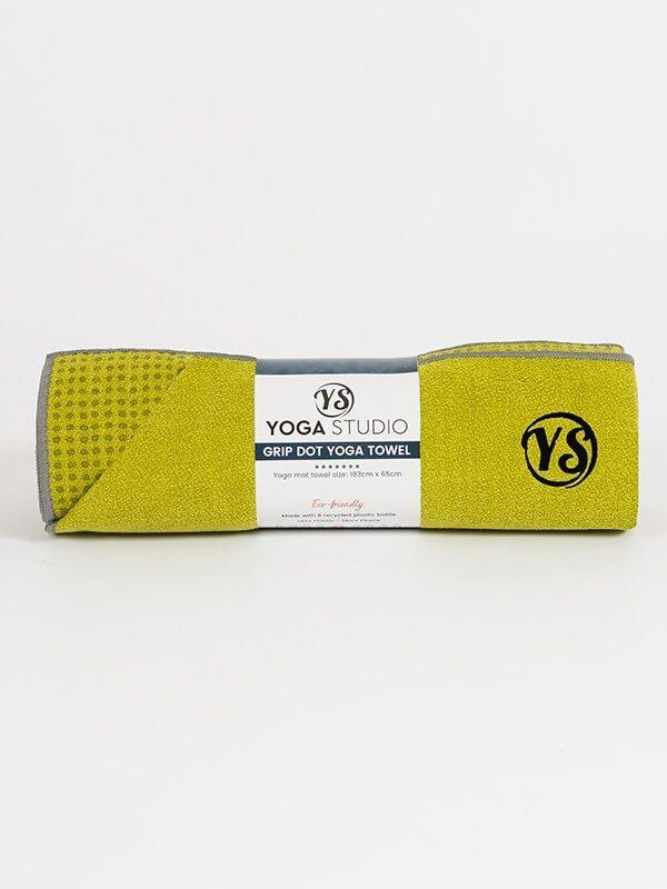 Premium Yoga Mat Grip Dot Towels | Lime Green (Rolled)