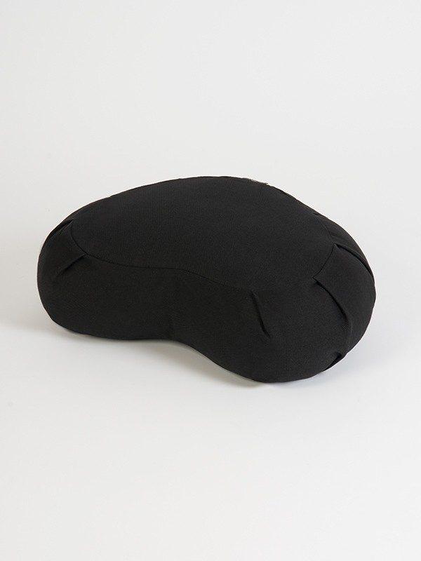 Yoga Studio European Organic Buckwheat Zafu Crescent Cushion | Black