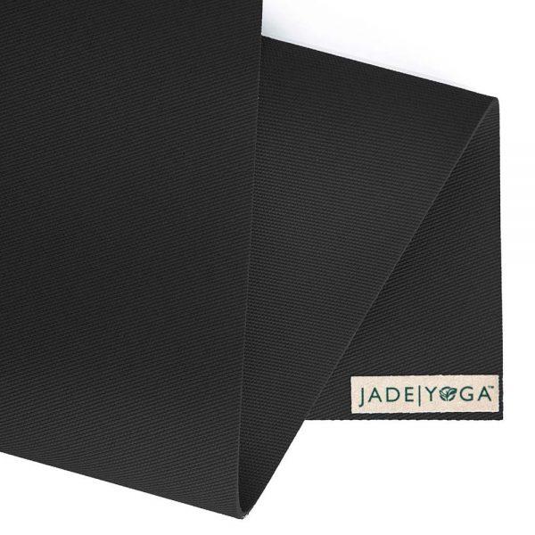 Jade Yoga Harmony 68 Inch Yoga Mat | Black - Detail