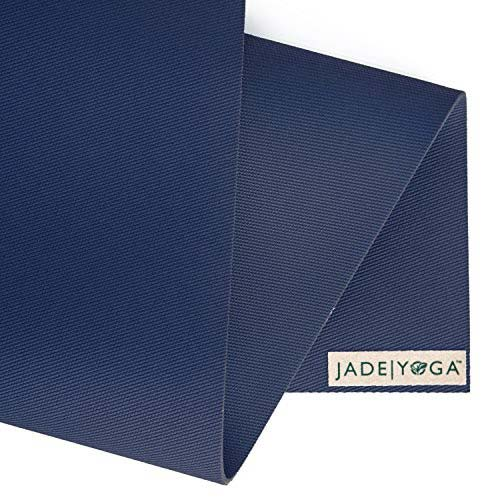 Jade Yoga Harmony 68 Inch Yoga Mat | Midnight Blue - Detail