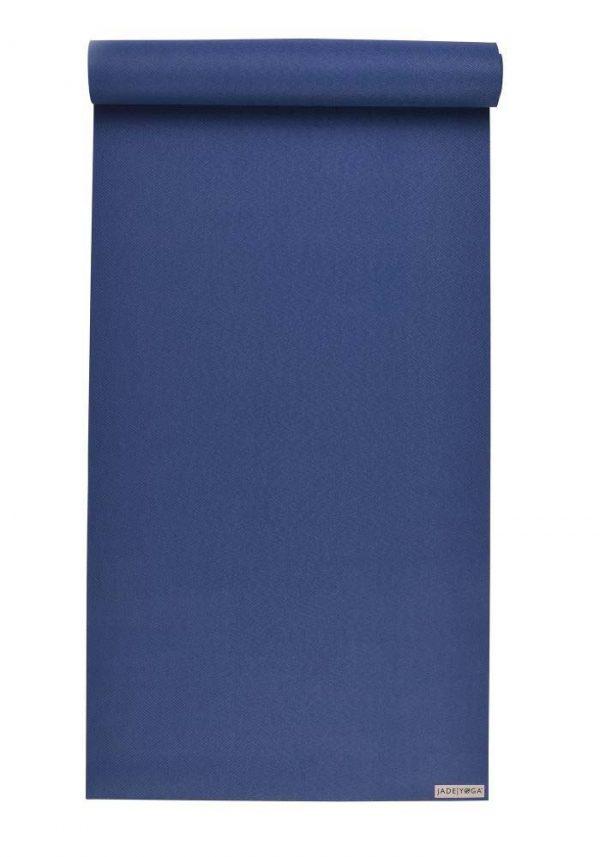 Jade Yoga Harmony 68 Inch Yoga Mat | Midnight Blue - Mostly Flat