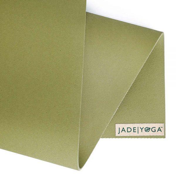 Jade Yoga Harmony 68 Inch Yoga Mat | Olive Green - Detail