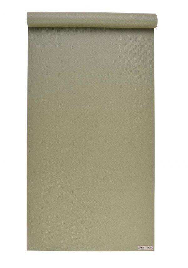 Jade Yoga Harmony 68 Inch Yoga Mat | Olive Green - Mostly Flat