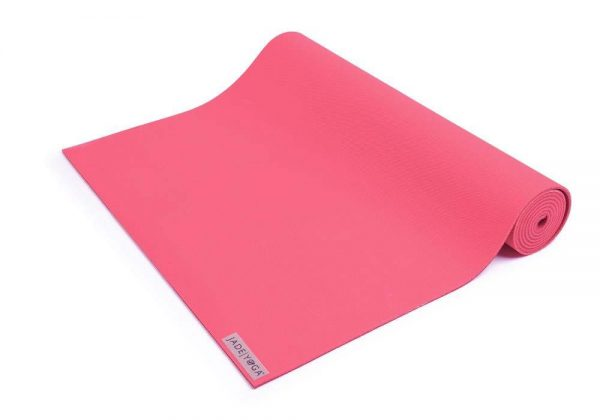 Jade Yoga Harmony 68 Inch Yoga Mat | Pink - Half Rolled
