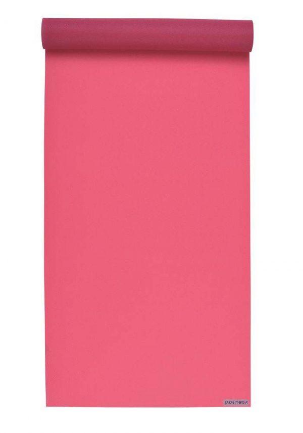 Jade Yoga Harmony 68 Inch Yoga Mat | Pink - Mostly Flat