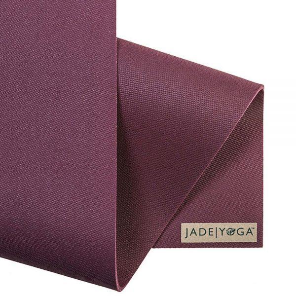 Jade Yoga Harmony 68 Inch Yoga Mat | Plum - Detail