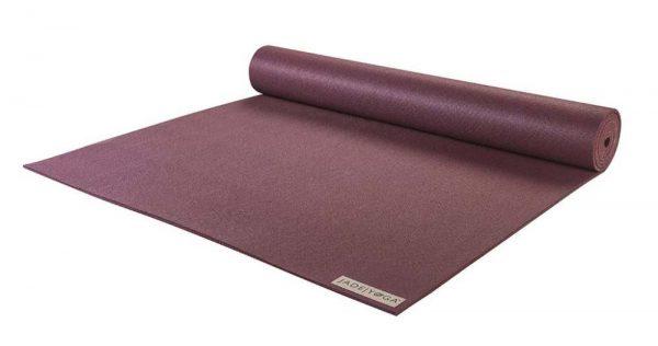 Jade Yoga Harmony 68 Inch Yoga Mat | Plum - Half Rolled