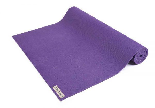 Jade Yoga Harmony 68 Inch Yoga Mat | Purple - Half Rolled