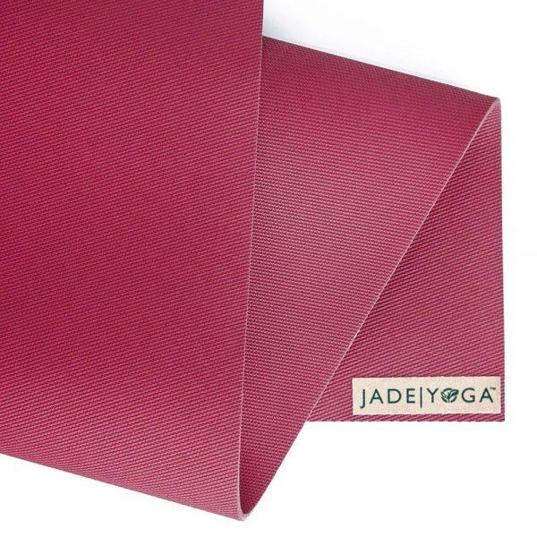 Jade Yoga Harmony 68 Inch Yoga Mat | Raspberry - Detail