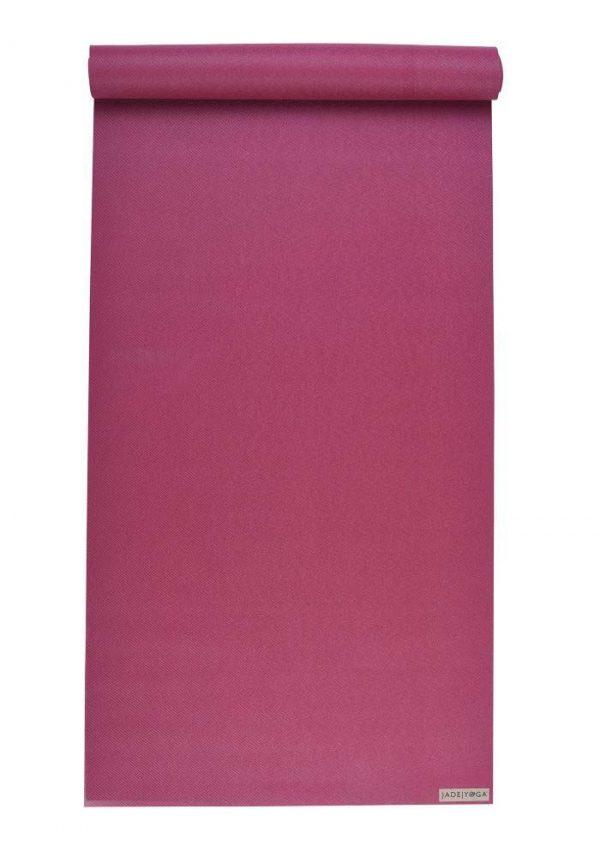 Jade Yoga Harmony 68 Inch Yoga Mat | Raspberry - Mostly Flat