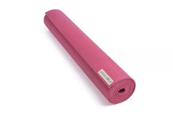 Jade Yoga Harmony 68 Inch Yoga Mat | Raspberry - Rolled
