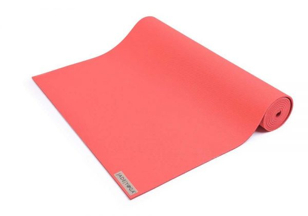 Jade Yoga Harmony 68 Inch Yoga Mat | Sedona Red - Half Rolled