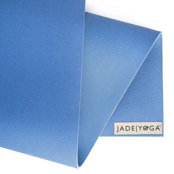 Jade Yoga Harmony 68 Inch Yoga Mat | Slate Blue - Detail