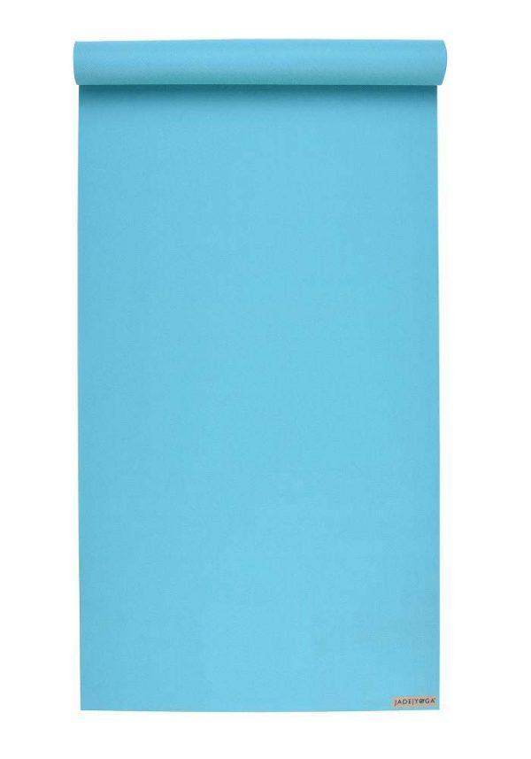 Jade Yoga Harmony 68 Inch Yoga Mat | Teal- Mostly Flat