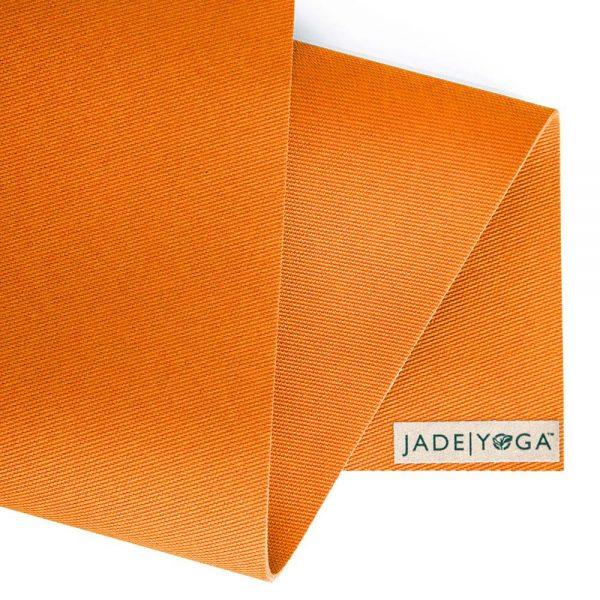 Jade Yoga Harmony 68 Inch Yoga Mat | Tibetan Orange - Detail