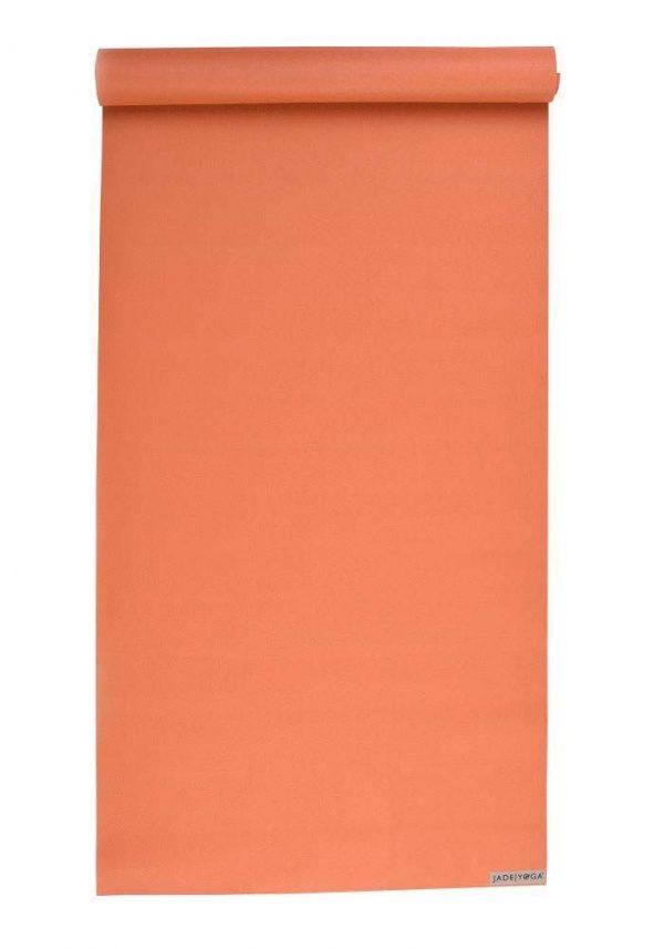 Jade Yoga Harmony 68 Inch Yoga Mat | Tibetan Orange - Mostly Flat