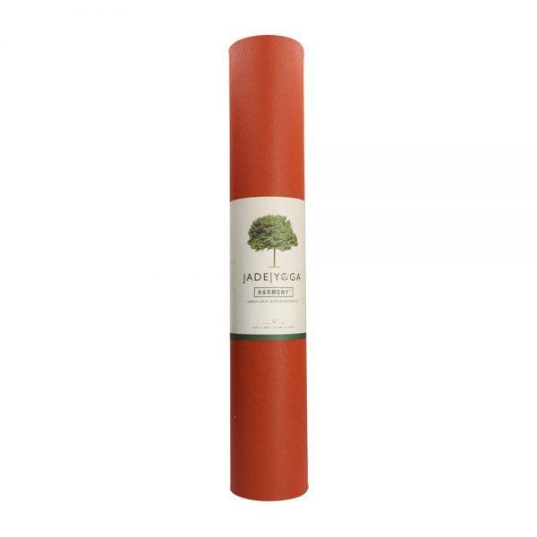 Jade Yoga Harmony 71 Inch Yoga Mat   Clay - Rolled with label