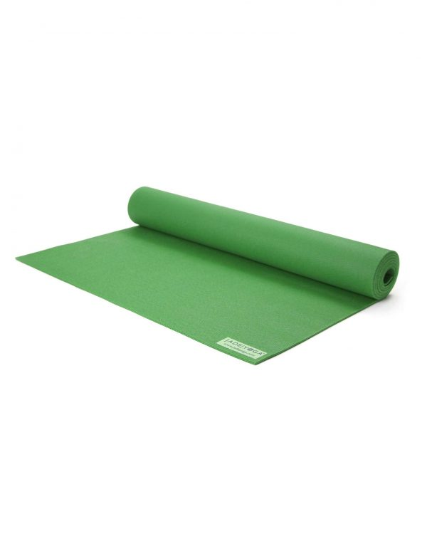 Jade Yoga Harmony 71 Inch Yoga Mat | Jungle Green - Half Rolled