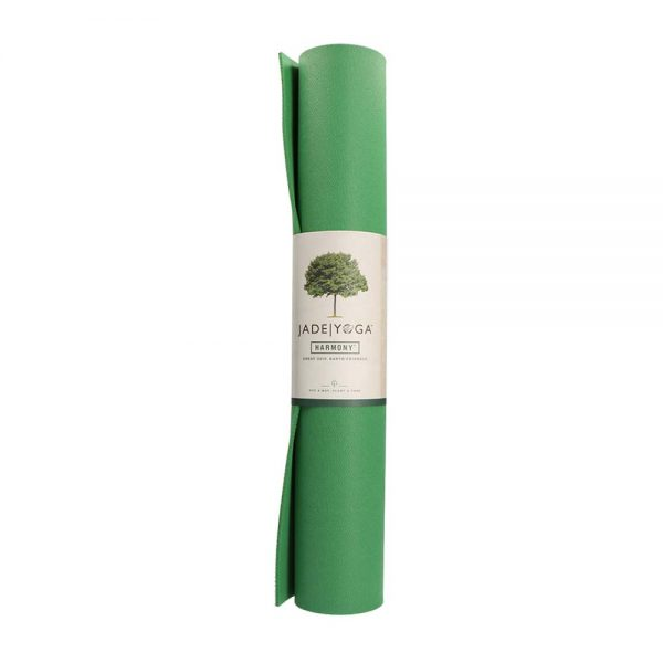 Jade Yoga Harmony 71 Inch Yoga Mat | Jungle Green - Rolled with label