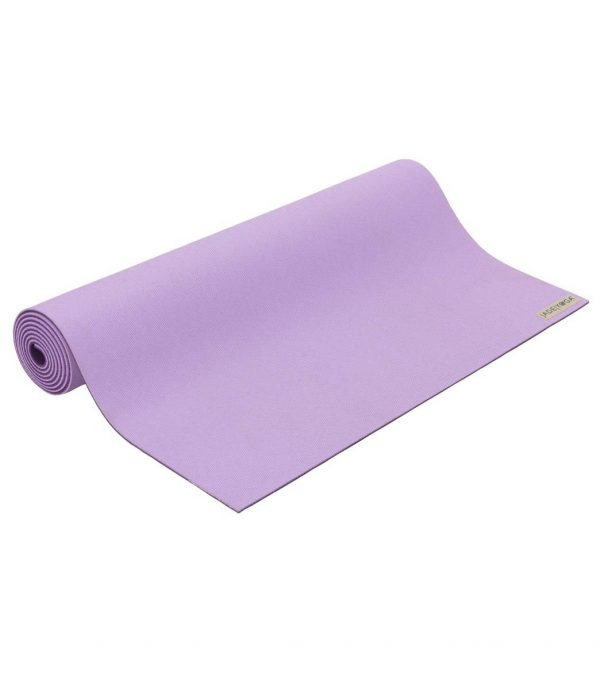 Jade Yoga Harmony 71 Inch Yoga Mat | Lavender / Purple - Half Rolled