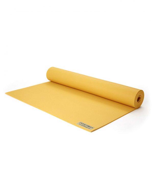 Jade Yoga Harmony 71 Inch Yoga Mat | Saffron - Half Rolled