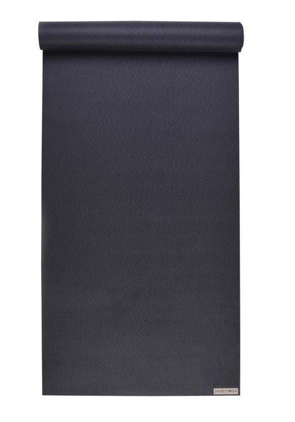 Jade Yoga Harmony 74 Inch Yoga Mat | Black - Mostly Flat