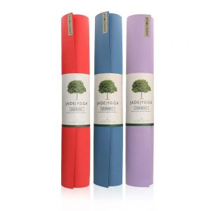 Jade Yoga Harmony 74 Inch Yoga Mat | Main image with different colours