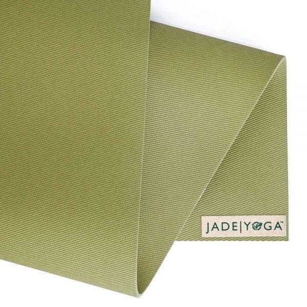 Jade Yoga Harmony 74 Inch Yoga Mat | Olive Green - Detail