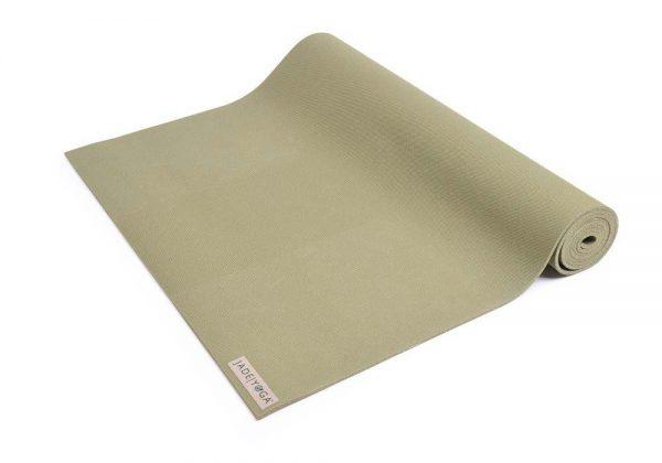 Jade Yoga Harmony 74 Inch Yoga Mat | Olive Green - Half Rolled