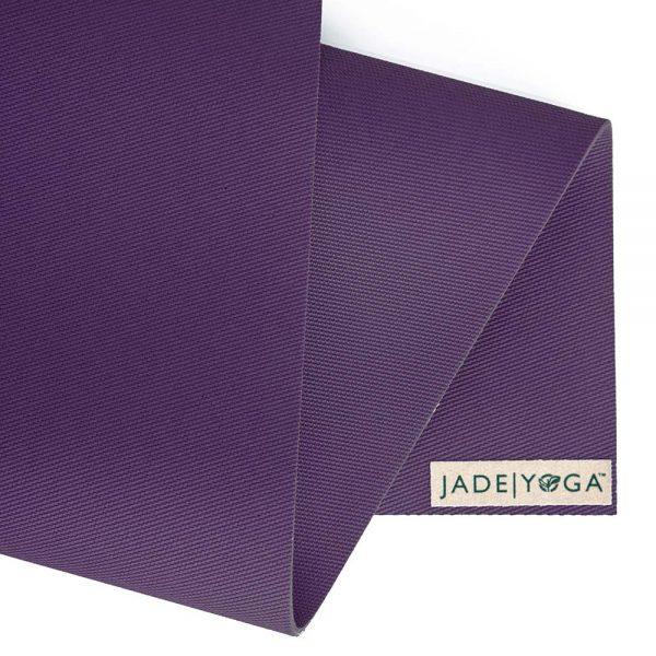 Jade Yoga Harmony 74 Inch Yoga Mat | Purple - Detail