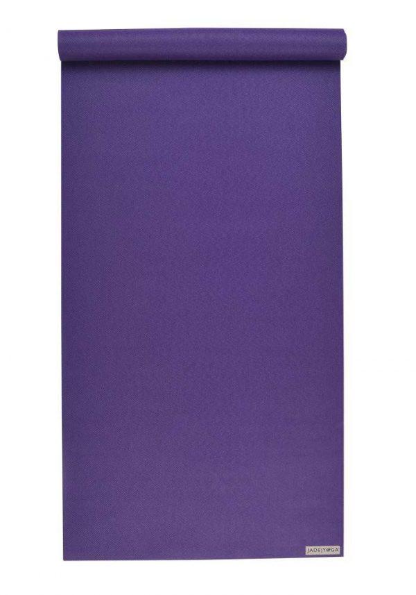 Jade Yoga Harmony 74 Inch Yoga Mat | Purple - Mostly Flat