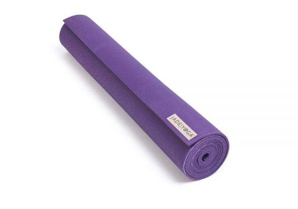 Jade Yoga Harmony 74 Inch Yoga Mat | Purple - Rolled