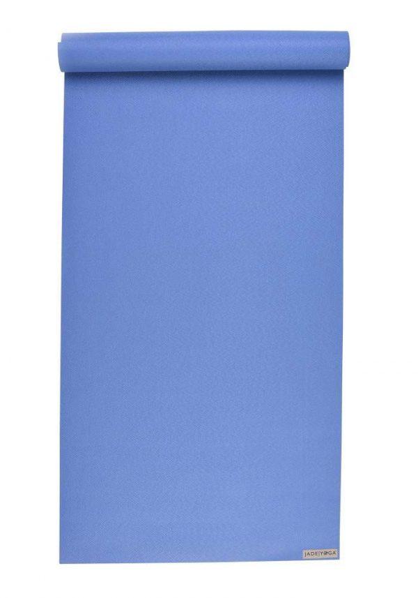 Jade Yoga Harmony 74 Inch Yoga Mat | Slate Blue - Mostly Flat