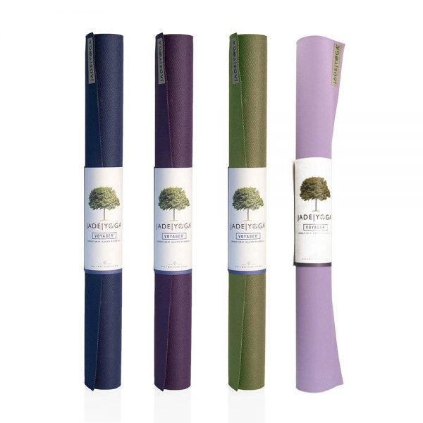Jade Yoga Voyager Yoga Mat 1.6mm | Main image with all colours