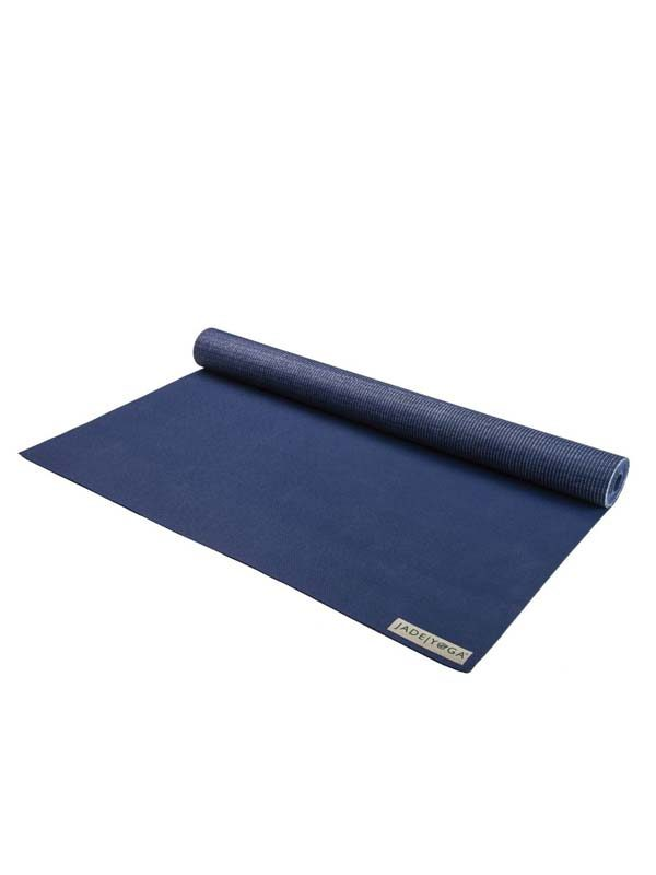 Jade Yoga Voyager Yoga Mat 1.6mm | Midnight Blue - Rolled
