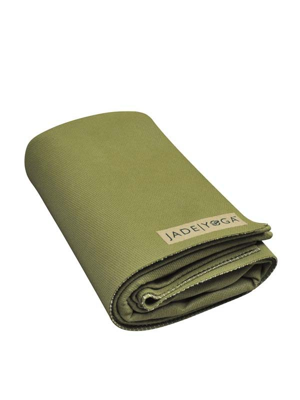 Jade Yoga Voyager Yoga Mat 1.6mm | Olive - Folded