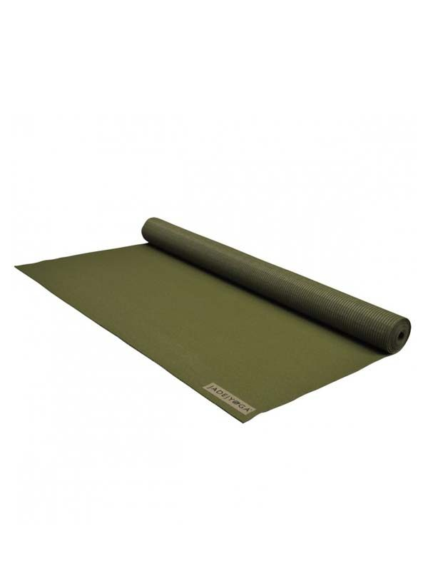 Jade Yoga Voyager Yoga Mat 1.6mm | Olive - Rolled