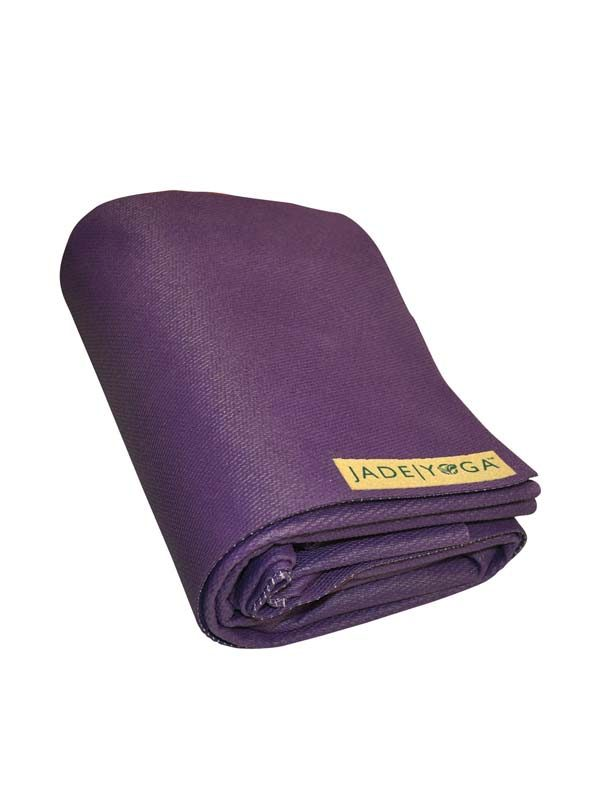 Jade Yoga Voyager Yoga Mat 1.6mm | Purple - Folded