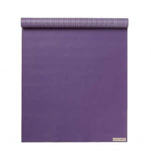 Jade Yoga Voyager Yoga Mat 1.6mm | Purple - Half rolled