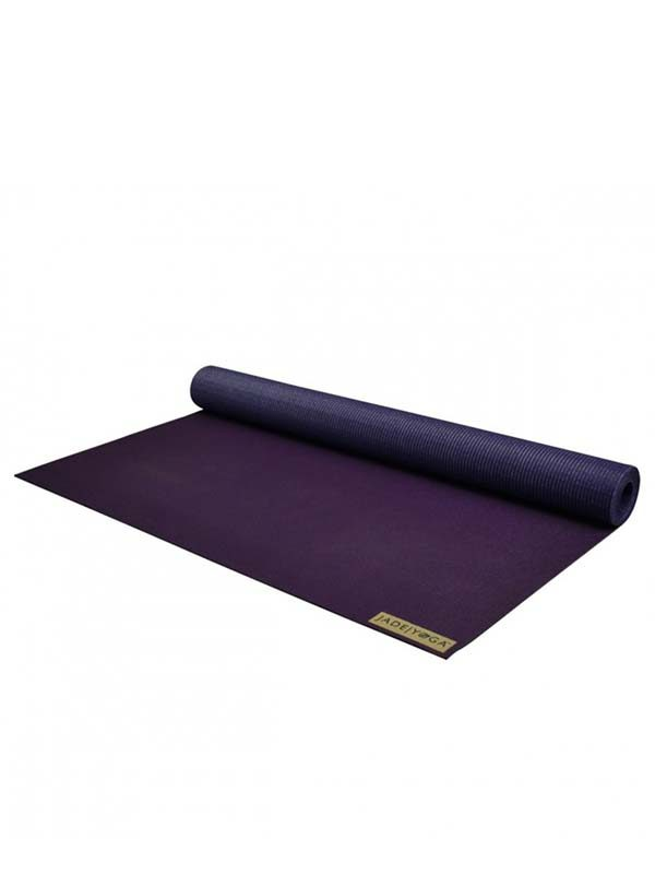 Jade Yoga Voyager Yoga Mat 1.6mm | Purple - Rolled
