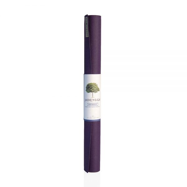 Jade Yoga Voyager Yoga Mat 1.6mm | Purple - Rolled with label