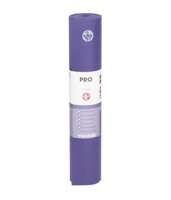 Manduka PROlite Long Yoga Mat | Purple - Rolled with label