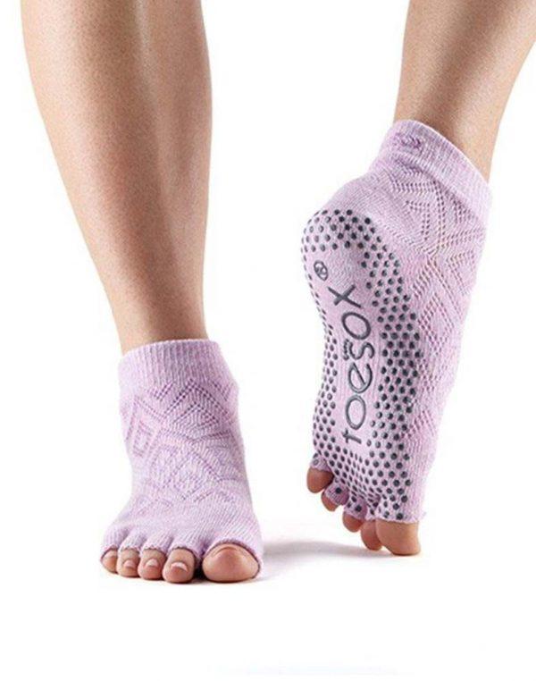 ToeSox Ankle Half Toe Yoga Socks | Diamond Freesia
