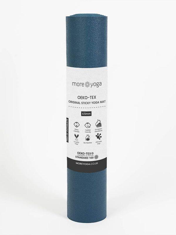 Oeko-Tex Original Sticky Long 4.5mm Yoga Mat - Aegean Blue (4)