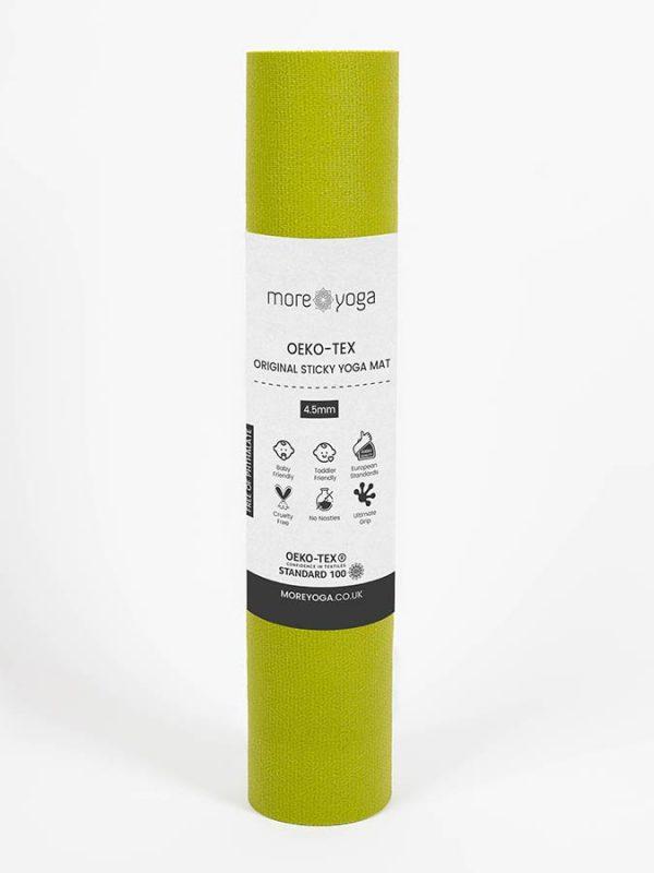 Oeko-Tex Original Sticky Long 4.5mm Yoga Mat - Avocado Green (4)