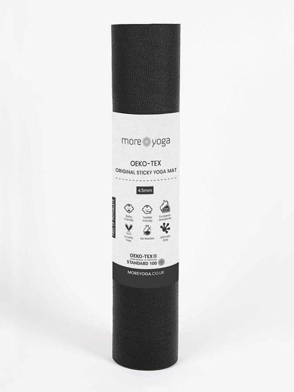Oeko-Tex Original Sticky Long 4.5mm Yoga Mat - Onyx Black (4)