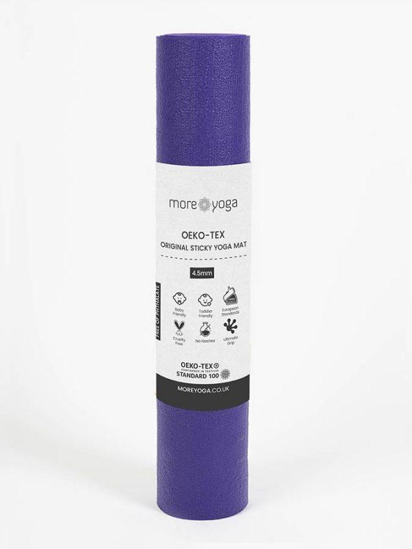 Oeko-Tex Original Sticky Long 4.5mm Yoga Mat - Purple Grape (4)