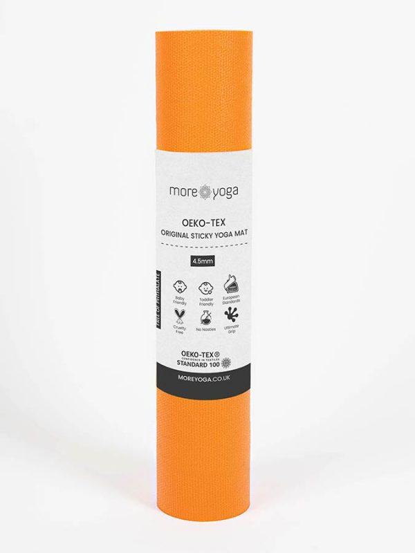 Oeko-Tex Original Sticky Long 4.5mm Yoga Mat - Tangerine Orange (4)